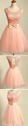 peach pink lace lovely for teens modest formal homecoming prom gowns dress,BD0080
