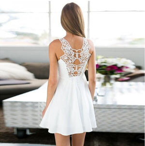 Simple Cheap A-Line White Short Beautiful Homecoming Dresses For Teen, BD0250
