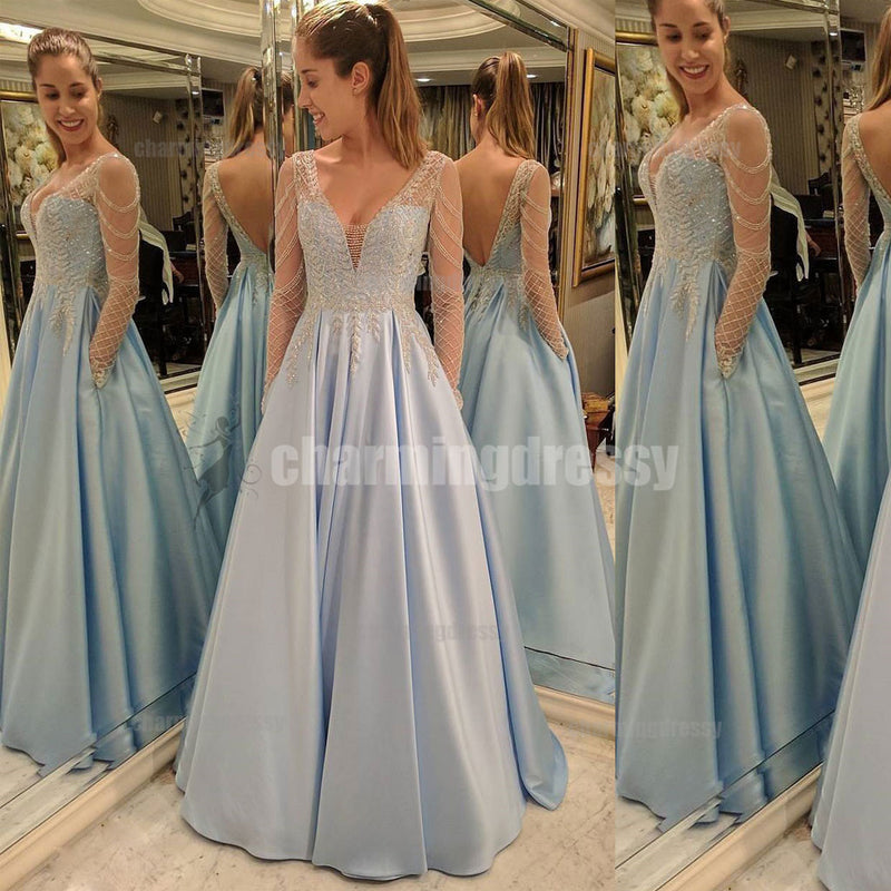 Long A-line Sparkly Stunning Shinning Gorgeous Charming Prom Dresses ...