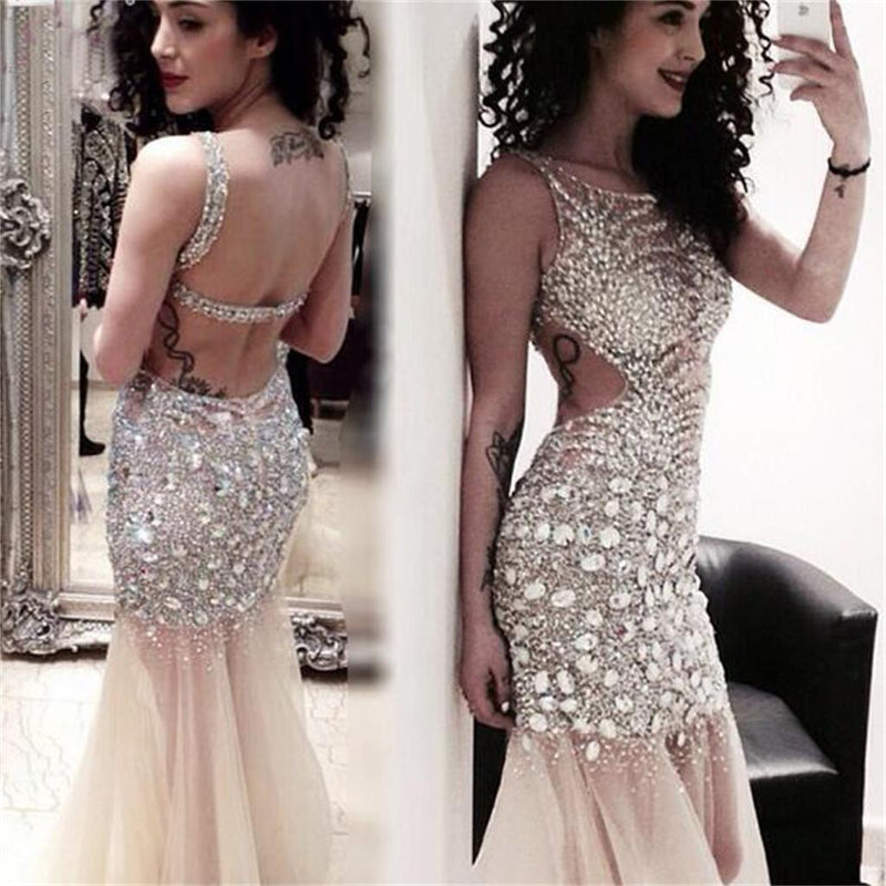 Long Sexy Sparkle Open Back  Popular Pretty  Evening Prom Dresses Online,PD0102