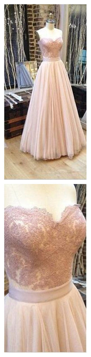 Sweetheart A-line Tulle  Charming Cocktail Evening Long Prom Dresses Online,PD0158