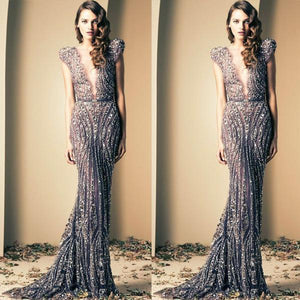 Beaded Shinning Gorgeous Shinning Sparkly Elegant Mermaid Prom Dresses,2019 party dresses,PD1022 - SposaBridal