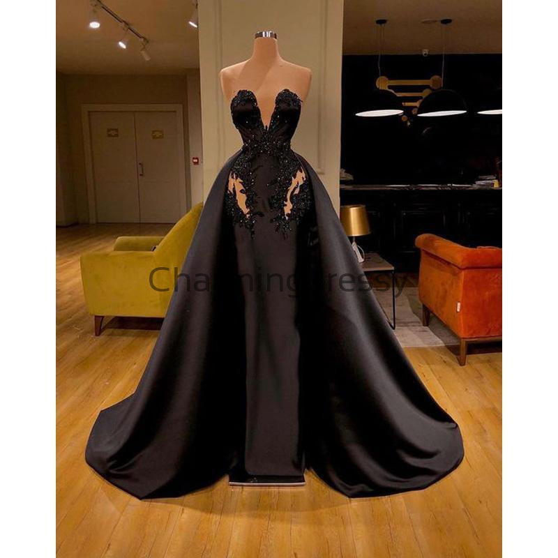 Black Custom Unique Formal Elegant Fashion Prom Dresses PD2195