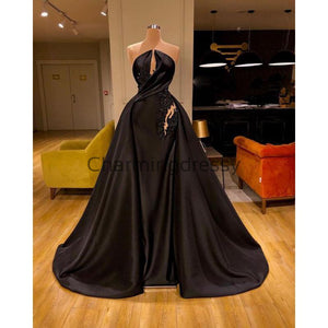 Black Custom Unique Formal Elegant Modest Prom Dresses PD2196
