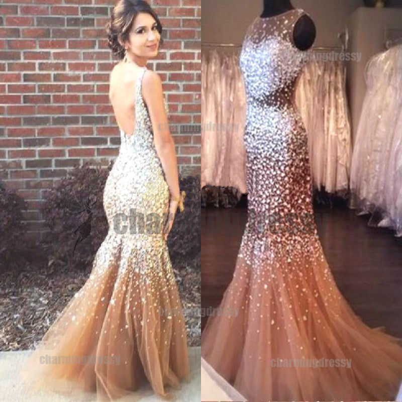 ef591c65 Open Back Sparkly Rhinestone New Arrival Prom Dresses, Evening Dress,  Fashion gown, PD0481