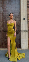 Charming Mermaid Unqiue Simple Modest Prom Dresses PD2171