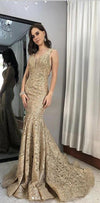 Charming Full Lace Long Mermaid New Popular Prom Dresses, PD0933 - SposaBridal