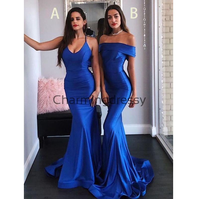 Cheap Mismatched Blue Mermaid Elegant Hot Bridesmaid Dresses WG687