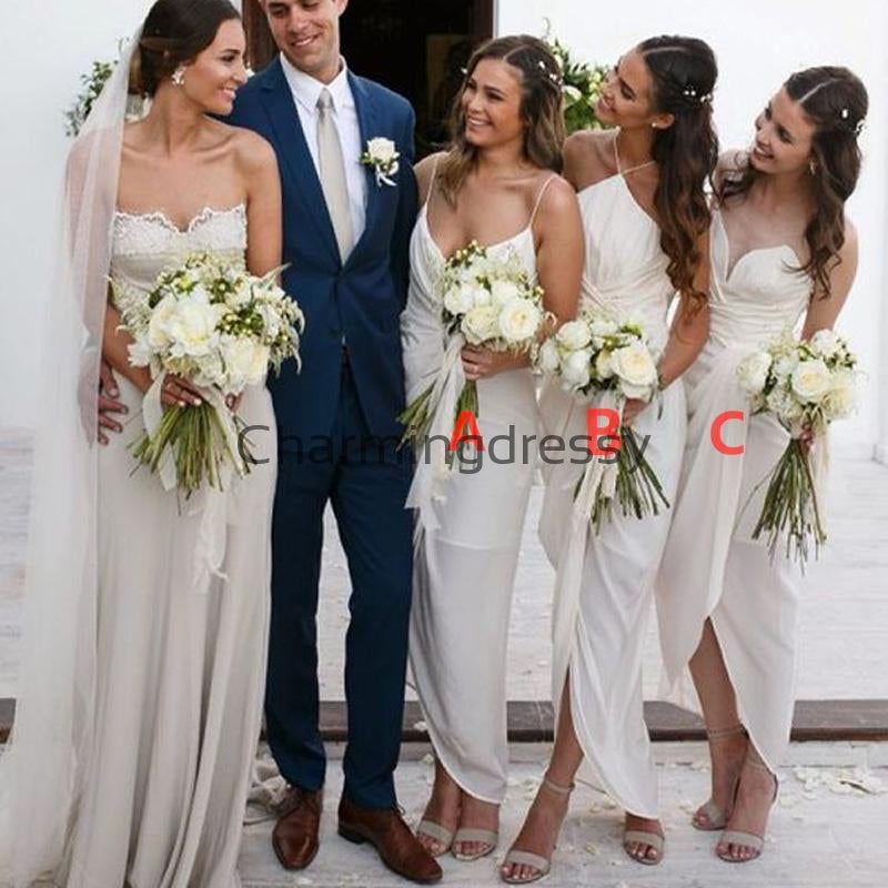 Cheap Mismatched Unique Short Elegant Summer Bridesmaid Dresses WG688