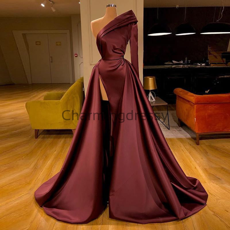 Cheap One Shoulder Unique Long Fashion Prom Dresses PD2146