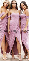 Cheap Pnk Short Pretty Simple Unique Bridesmaid Dresses WG692