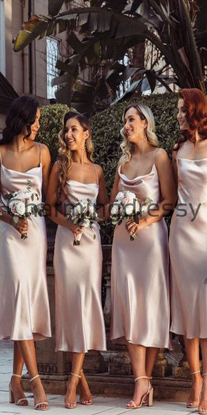 Cheap Straps Short Most Popular Simple Bridesmaid Dresses WG694