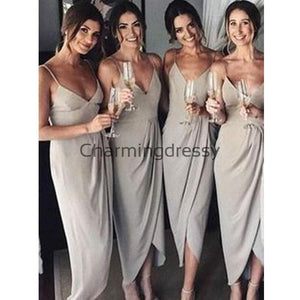 Cheap Straps Simple Unique Fashion Bridesmaid Dresses WG695
