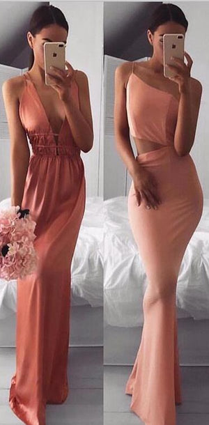 Cheap Fashion Sexy Simple Soft Long Pretty Prom Dresses, PD0934 - SposaBridal