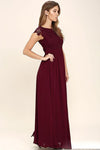 Cheap Chiffon Modest Sexy Unique Bridesmaid Dresses Mixed Style A Line Burgundy Bridesmaid  Dresses, WG268