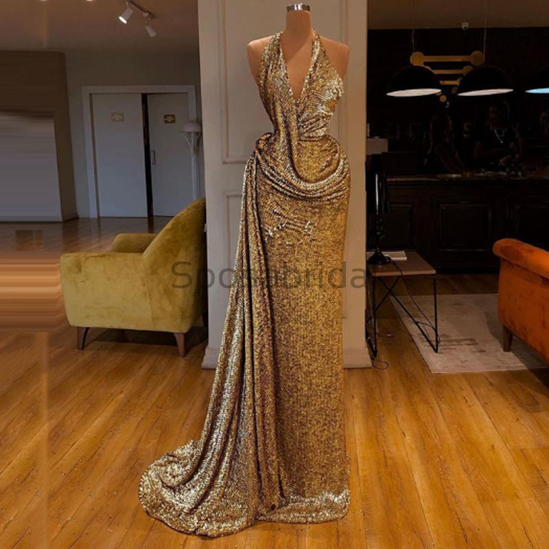Custom Unique Design Sexy Halter Mermaid Fashion Long Prom Dresses PD1590