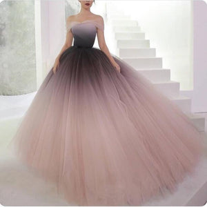 Gradient Off Shoulder Tulle Elegant Prom Gown, Pretty Fairy Unique Fashion Prom Dresses , PD1079