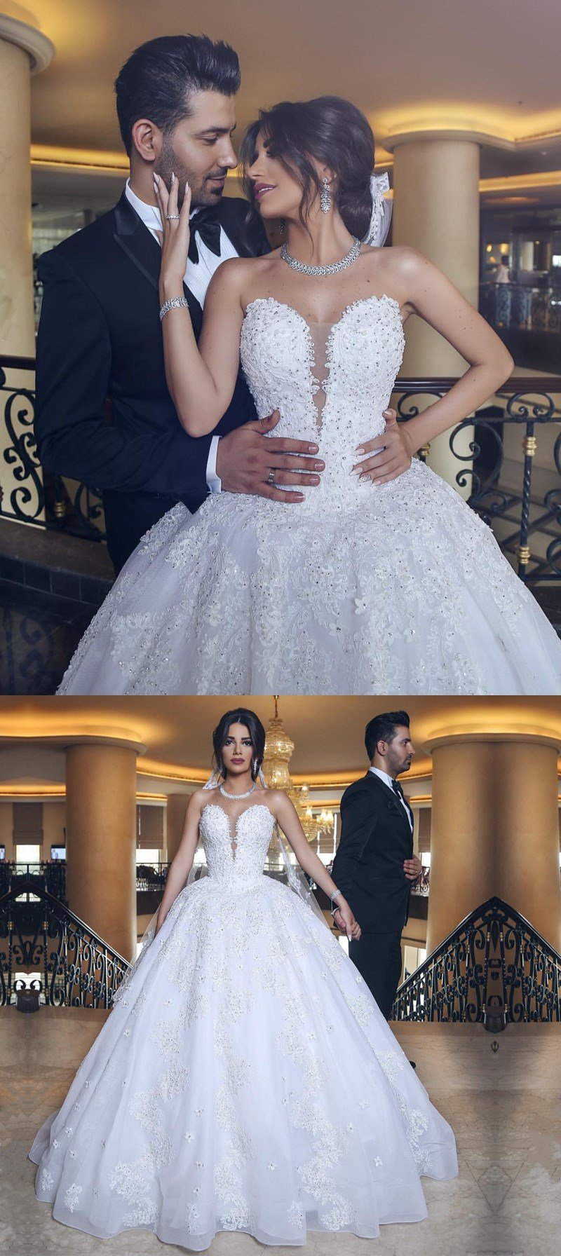 9abe8f45c8e Lace Appliques Sweetheart Tulle Wedding Dresses