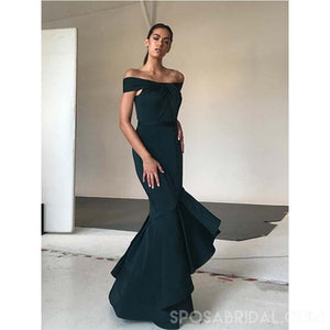 Long Off the Shoulder Custom Made Mermaid Unique Design Cheap Modest Prom Dresses, PD1167