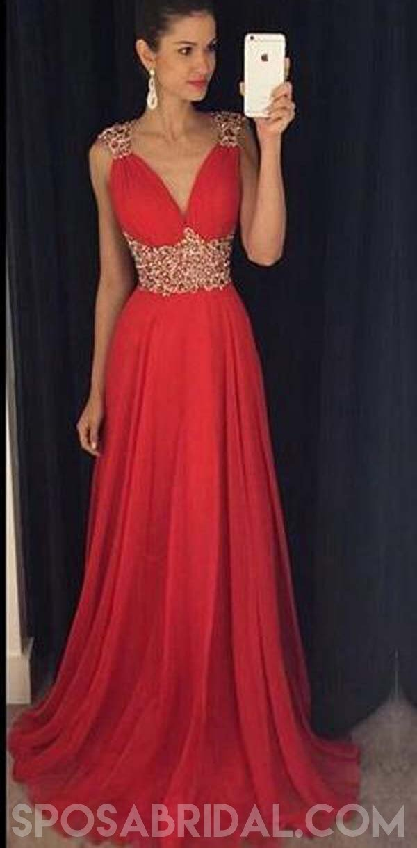 Heart Shaped Red Evening Dresses
