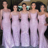 Long Spaghetti Straps Pink Bridesmaid Dresses, Cheap Sleeveless Sexy Maid of Honor Dresses,WG371