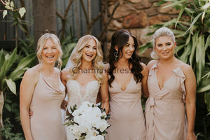 Mismatched Elegant Simple Cheap Long Bridesmaid Dresses WG717