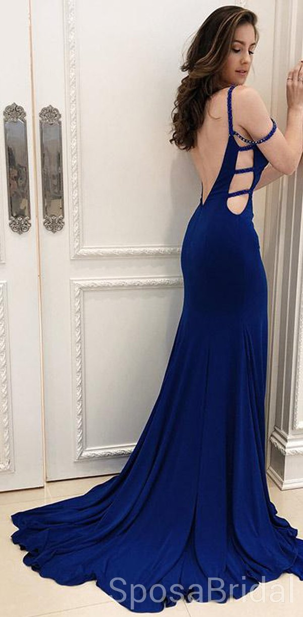 7a39272711 Modest Sexy Mermaid Blue Elegant Unique Popular Long Prom Dresses, PD1276