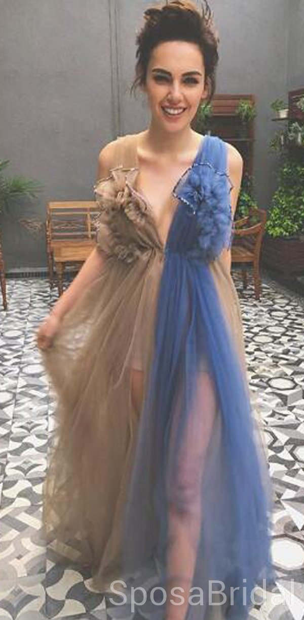Modest Tulle Unique Design New Elegant Long Prom Dresses, Evening Dresses, PD1277