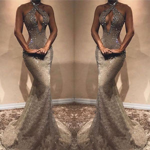 New Arrival Lace Mermaid Modest Long Prom Dresses, Elegant Gorgeous Evening Dress, PD0998