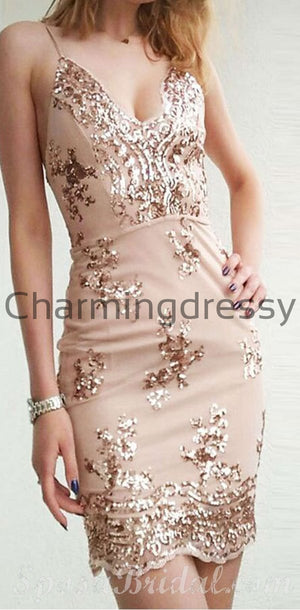 New Arrival Popular Sleeves Mermaid Custom Inexpensive Homecoming Dress, Short Prom Dress,BD0413