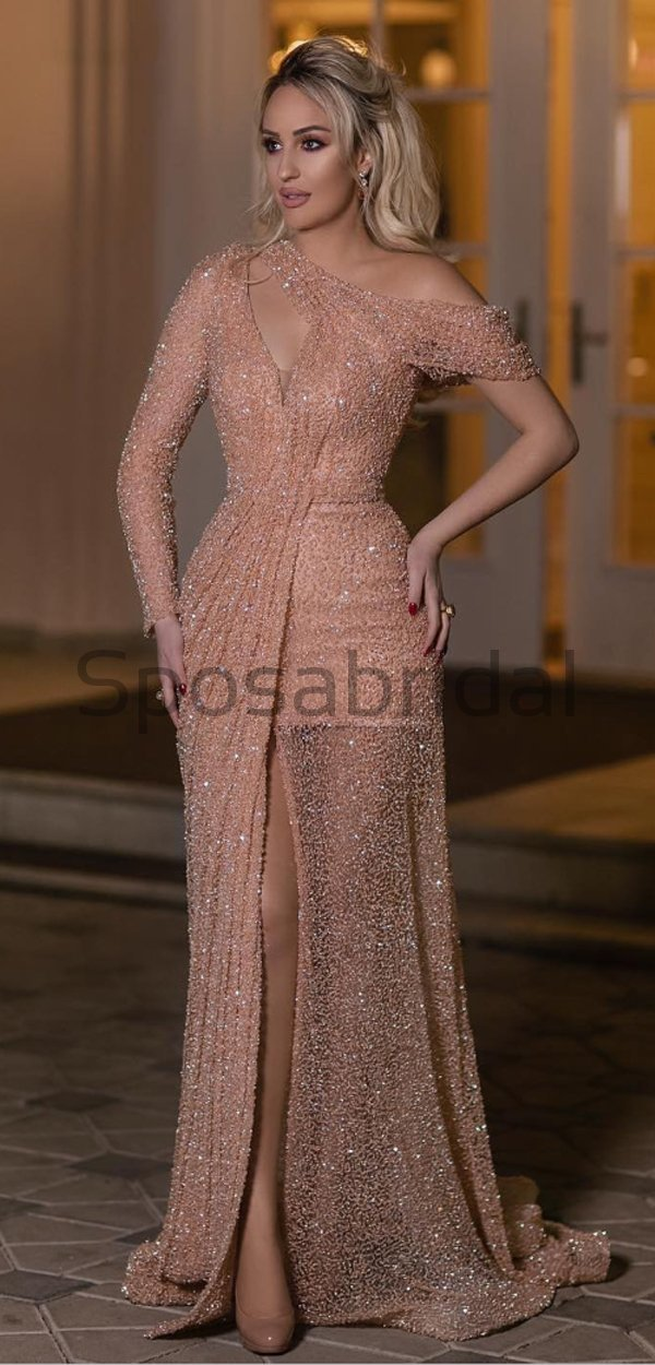 New Arrival Sparkly Shining Sequin Unique Design Elegant Long Prom Dresses, evening dress PD1599