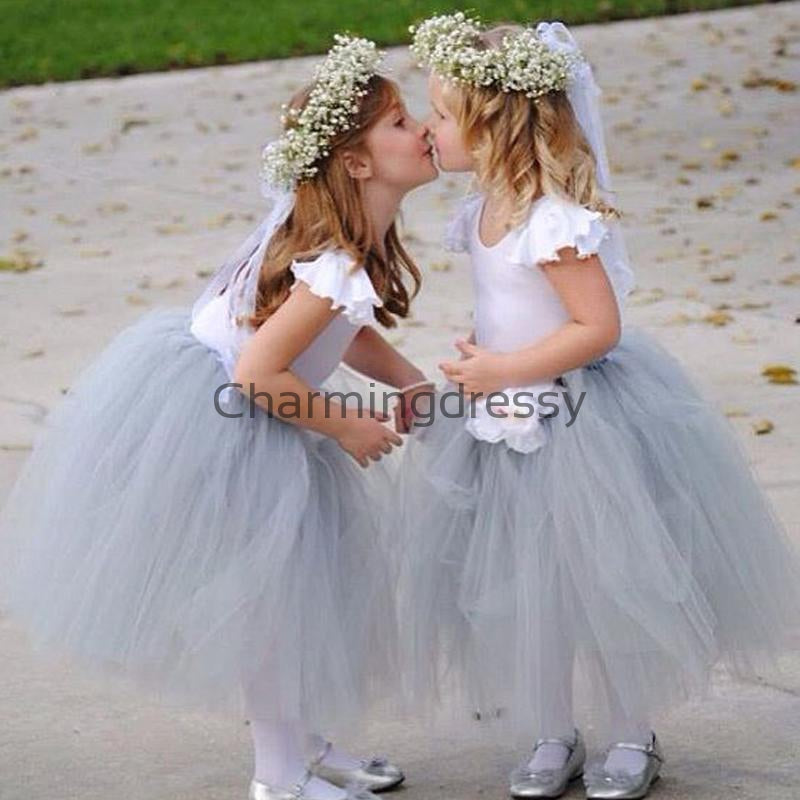 Popular Tulle Cute Unique Lovely Custom Flower Girl Dresses, FG139