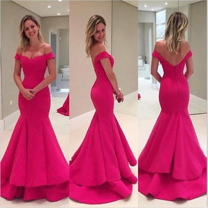 Off Shoulder Mermaid Elegant Formal Sexy Fashion Newest  Party Prom Dress  ,PD0240