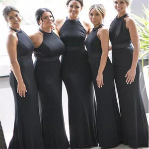 Black New Arrival Halt Sexy Prom Dresses, Modern Custom Prom Dress,  Evening Dresses, Party Dress, PD0319