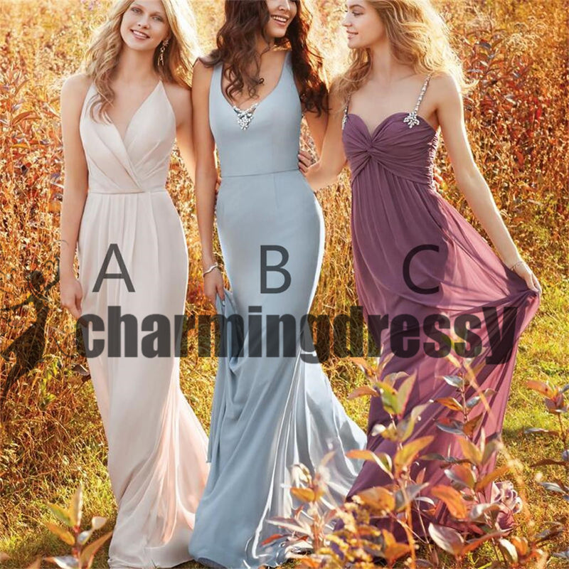 Cheap Chiffon Simple Mismatched Pretty Bridesmaid Dresses, High Quality Bridesmaid Dress, PD0379