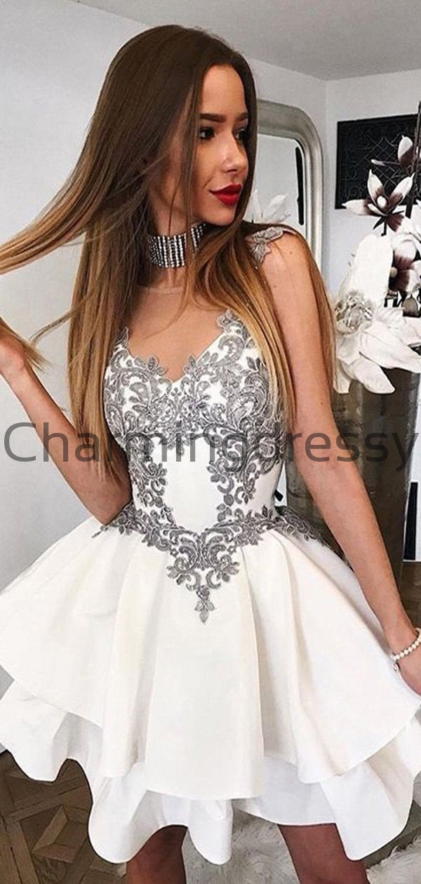 Short Lace Sleeveless New Pretty Hot Homecoming Dresses BD0445