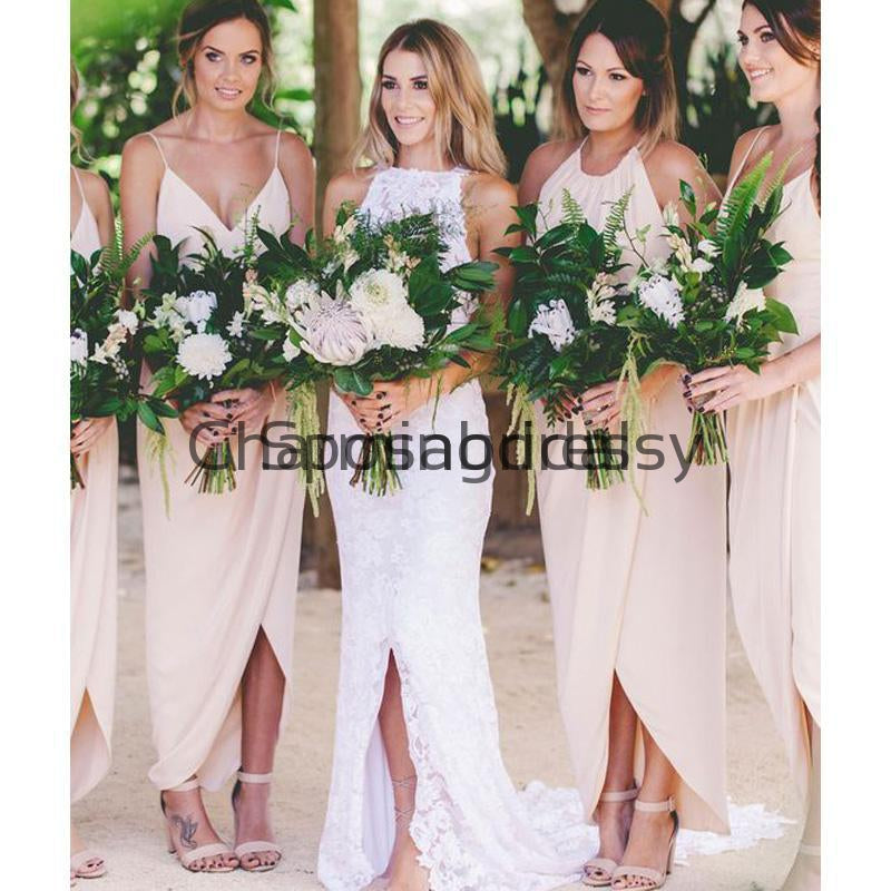Spaghetti Straps Blush Pink Short Most Popular Bridesmaid Dresses WG840