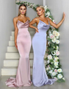 Spaghetti  Straps Mermaid Elegant Sexy Simple  Cheap Bridesmaid Dresses, Modest Prom Dresses,PD1046