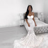 Spaghetti Straps Sexy Mermaid Wedding Dresses, Unique Newest Cheap Prom Dresses, PD0808