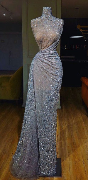 Sparkly Gorgeous Shinning Long Prom Dress, Unique Design Pretty Fashion Prom Dresses,PD1002