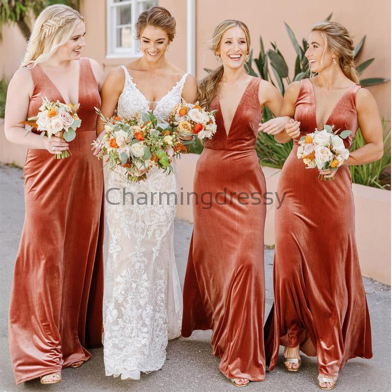 V-Neck Unique Pretty Elegant Soft Hot Bridesmaid Dresses WG675