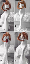 White Mermaid Different Style Elegant Custom Sexy Prom Dresses, Party dress, evenig dresses , PD0976