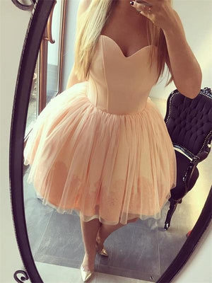 Sweetheart Simple Cheap Short Homecoming Dresses Online, CM527