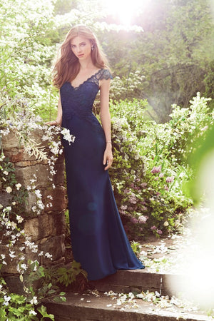Special Occasion Navy Blue popular Prom Dress, Fashion Bridesmaid Dress, Dresses For Wedding Party Guest, PD0300