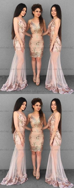 Mermaid Modest Sheath Spaghetti Straps Prom Dress With Lace Bridesmaid Dresses Pd0820 Dresses