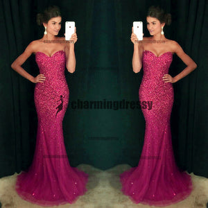 Sweetheart Beaded Sexy Fashion Gorgeous Sparkly Shining Elegant Prom Dresses, Evening Dresses,  PD0484