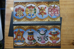 8 Auspicious Symbols Gift card w/ 8 removable magnets
