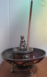 Tibetan Buddha Incense burner & ash catcher small size