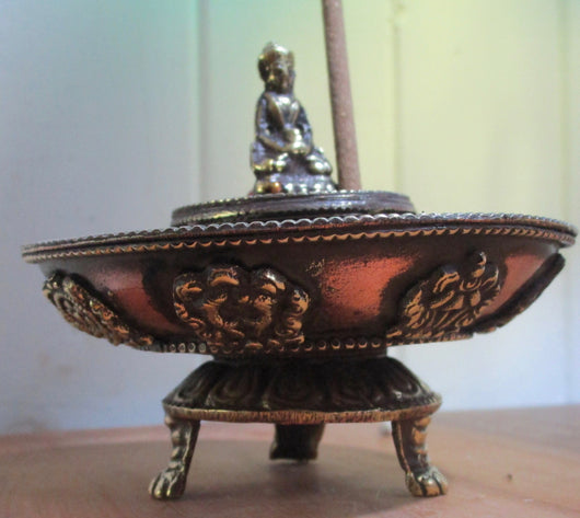Tibetan incense Burner & ash catcher small size