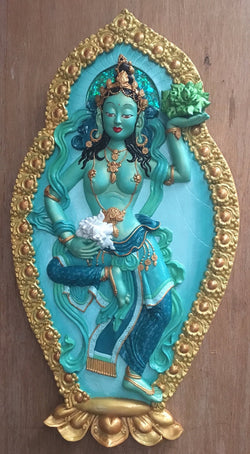 Tibetan Buddhist offering goddess Fresh and funky 3d wall decor